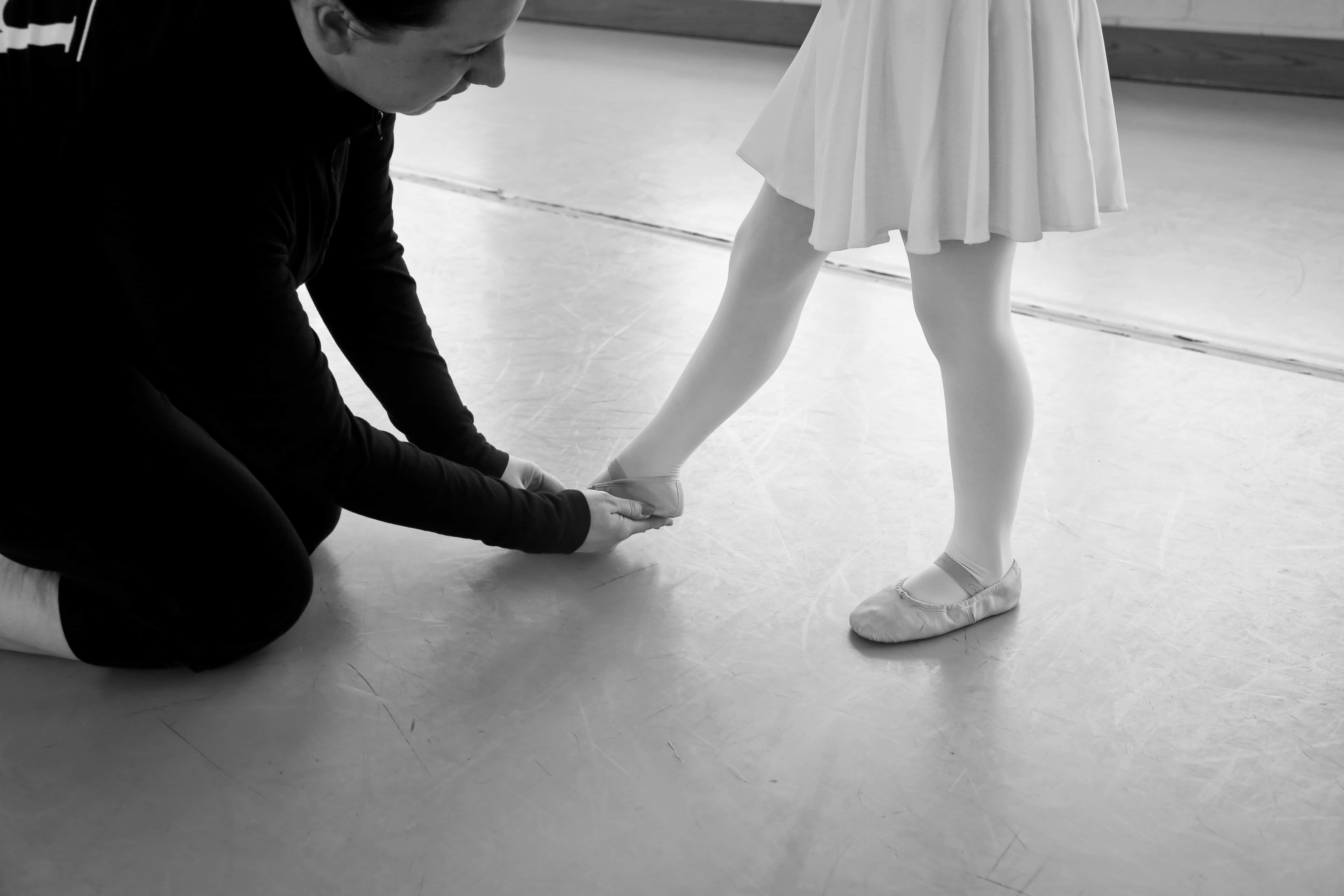 student and teacher in private dance lesson