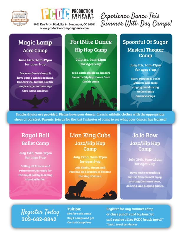 Summer Camps | Production Company Dance Centre